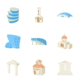 Habitation icons set cartoon style vector image vector image