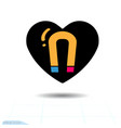 heart icon a symbol of the force of vector image vector image