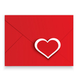 Heart stickers red envelope vector image vector image