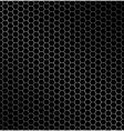 hexagon metal background vector image vector image