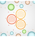 infographics - three color circle panels vector image vector image