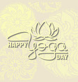 international yoga day lotus flower and vector image