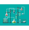 Laboratory design flat vector image