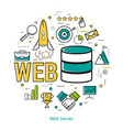 line art concept - web server vector image vector image