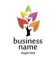 Logo and business environment vector image