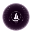 Logo yacht club on a dark background vector image