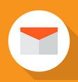mail icon flat symbol premium quality isolated vector image