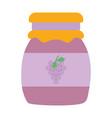 marmalade jar glass grape design icon vector image