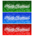 merry christmas and happy new year neon banners vector image