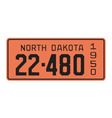 North Dakota 1950 license plate vector image vector image