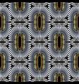 ornate geometric gold silver black 3d greek vector image vector image