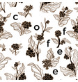 pattern coffee text vector image vector image