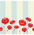pattern poppy flowers vector image vector image