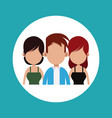 people friends together relation vector image vector image