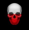 polish flag skull vector image vector image