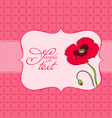 poppy flower greeting card vector image