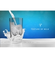 Pouring milk into a glass vector image vector image