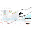 profit concept growing business graph vector image