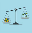 progress and prosperity on scales business success vector image vector image