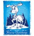 reindeer theme drawing 2 vector image