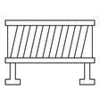 Road barrier icon outline style vector image vector image