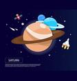 saturn uranus and naptune of solar system design vector image vector image