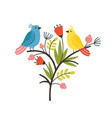 seasonal composition with pair lovely cute vector image vector image