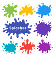 Set colored blots on white background