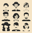 set different male and female icons in vector image vector image