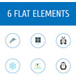 set of environment icons flat style symbols with vector image vector image