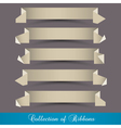 set origami paper ribbons banners vector image vector image