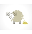 sheep icon vector image vector image