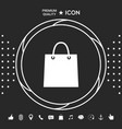 shopping bag symbol graphic elements for your vector image