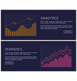 statistics blue collection vector image vector image