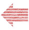 stripe arrow left fabric textured icon vector image vector image