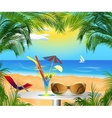 summer card with sea view vector image vector image