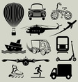 transport icons resize vector image vector image