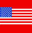 united state of america flag isolated vector image vector image