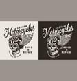vintage custom motorcycle shop emblem vector image vector image