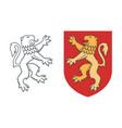 vintage heraldic rampant lion vector image vector image