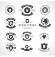 Vintage Lion Logotypes set vector image