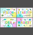 vision and start up collection vector image vector image
