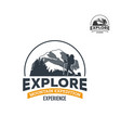 wild nature exploring logo vector image vector image