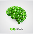 abstract concept of brain circles with thoughts vector image
