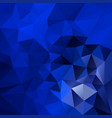 abstract polygonal square background royal blue vector image vector image