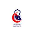 american muslim logo sign symbol icon vector image
