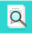 analysis inspection audit agreement contract vector image vector image
