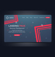 beautiful landing page abstract background website vector image vector image