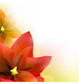 Borders Of Red Tulips And Green Blur vector image vector image