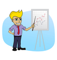 Business man with a chart - cartoon vector image vector image